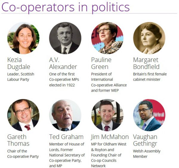 Co-operative Party Politicians