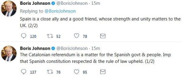 Boris tweets