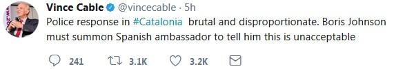 Cable tweet