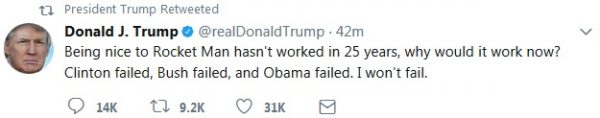 Trump tweet