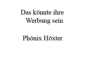 Werbung bei Phönix