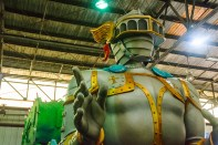 Conceptual – giant Mardi Gras figure of a helmeted knight