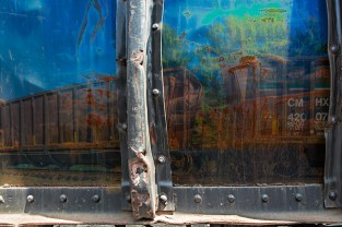Graphic – composition of the bulging side of a railroad car