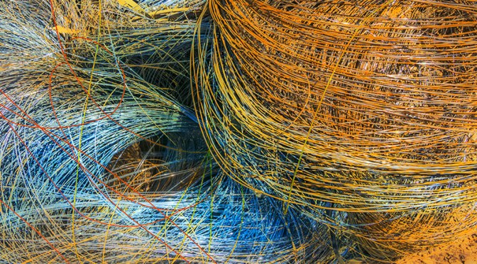 Abstract – coils of wire, an expression of continuity