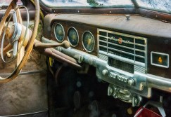 Man-made – Dashboard of abandoned antique car