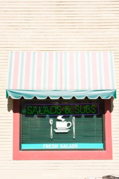 Graphic – Veranda shaded window of a restaurant