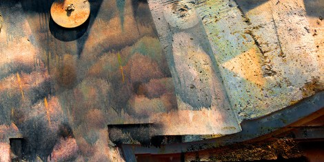 Abstract – pareidolia cubist 'wall face' - fart
