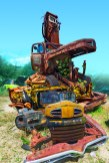 Conceptual – stack of rusted vehicles in salvage yard