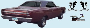 Phoenix Graphix 1968 Plymouth Roadrunner Decal Kit