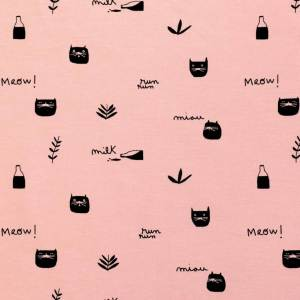 J8 - Jerseystoff Pink Milk Meow