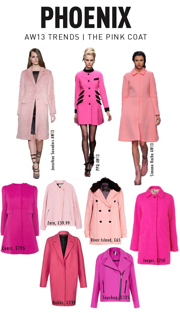 The Pink coat trend AW13