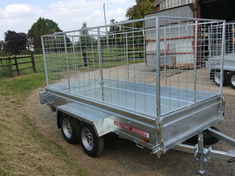 9x4 twin axle braked trailer
