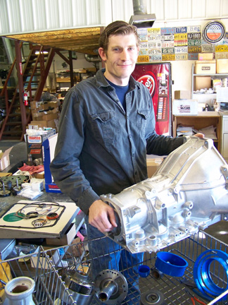 James Ducato readying all the components to assemble another quality transmission. This shop is all about attention to details, cleanliness, and trouble-free transmission rebuilding.