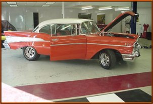 "Jerry Wagner Richmond, Tx 1957 Chevy Belair 350ZZ4 Engine w/ 3.70 Ford 9"" Currie Rearend PT700R4ZZ Phoenix Transmission"