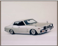 "Masayuki Ishibashi Chiba-ken, Japan 1979 Nissan Cedric Converted from 2800cc Inline 6 to Chevy 350 All hand made stainless arms and parts & Narrowed Ford 9"" PT700R4RV Phoenix Transmission 2003 Mooneyes Japan Hot Rod Custom Car Show / Best Domestic Award 2003 Mooneyes Japan Street Car Nationals / Best Hot Rod 2003 Award"