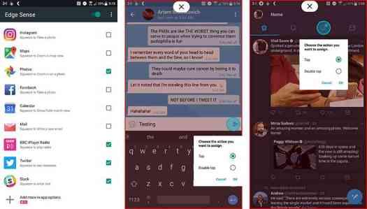 HTC U11 Edge Sense in app customizations