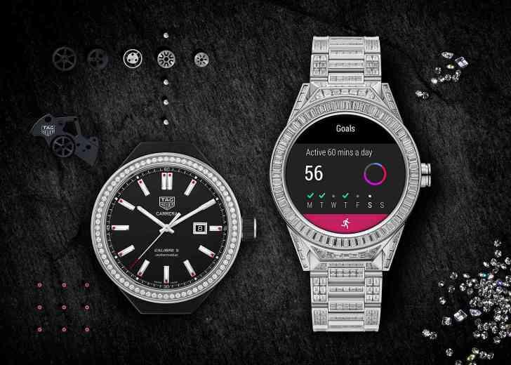 TAG Heuer Connected Modular 45 Full Diamonds mechanical watch