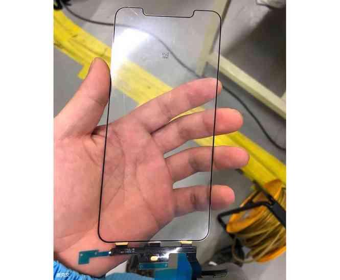 iPhone X Plus digitizer leak