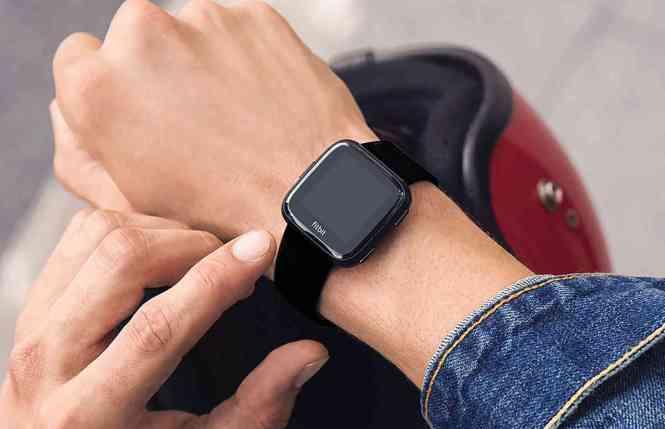 Fitbit Versa on wrist