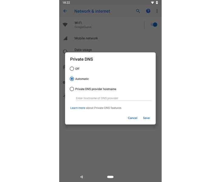 Android P gesture navigation bar leak