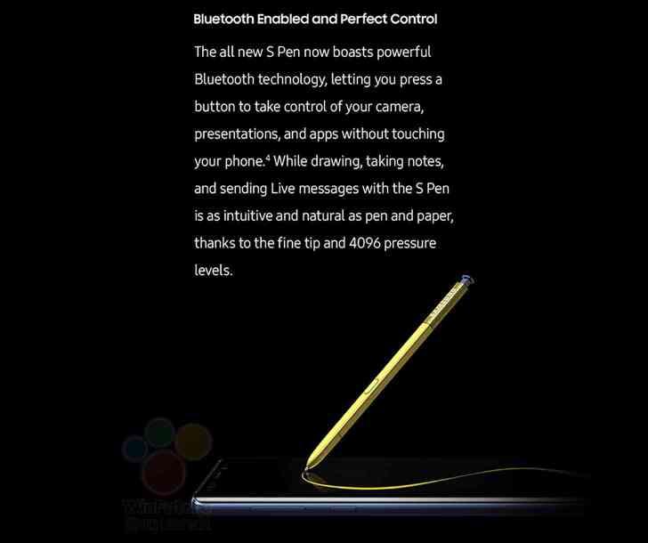 Samsung Galaxy Note 9 S Pen features leak