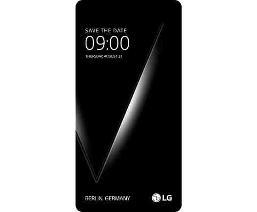LG V30 Save the Date event invitation