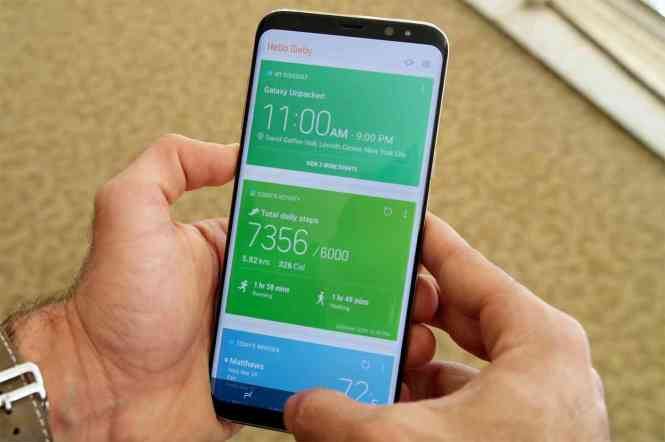 Samsung Galaxy S8 Bixby Home hands-on