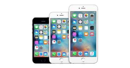 Apple iPhone sizes