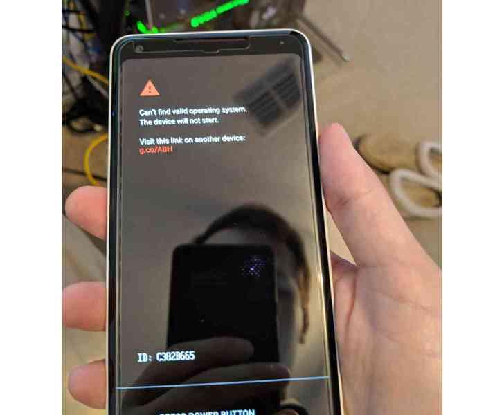 Google Pixel 2 XL no operating system