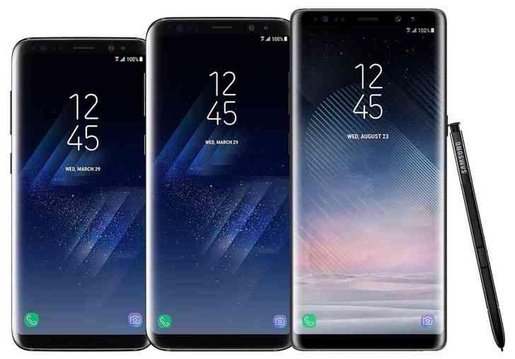 Samsung Galaxy S9, Galaxy S9+, Galaxy Note 8