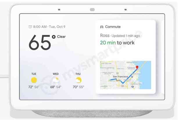 Google Home Hub smart display leak