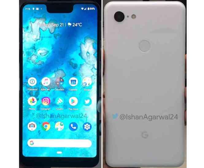Google Pixel 3 XL front back