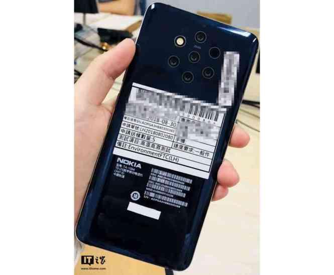 Nokia TA-1094 five rear cameras leak