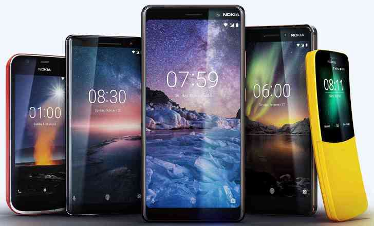 HMD Global new Nokia phones MWC 2018