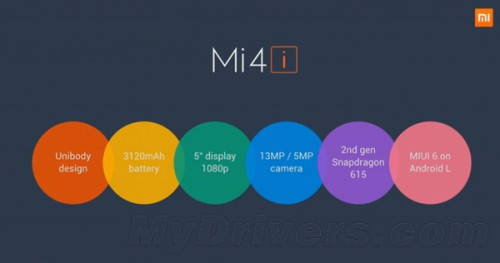 Xiaomi Mi 4i: Snapdragon 615 Octa Core • PhoneDroid