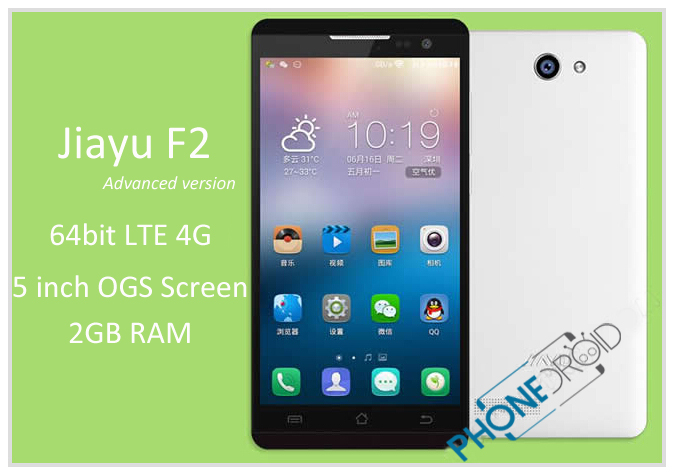 Jiayu F2 Advanced : Upgrade 64 bits et Android 5.1