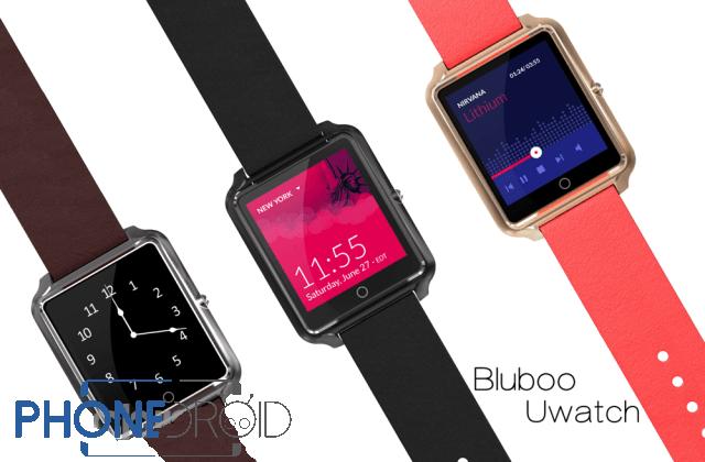 Bluboo Uwatch : images publiées, et POURRAIT avoir Android Wear