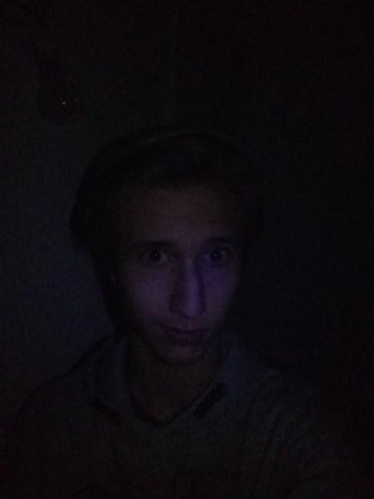 Photo sans lumière avec flash