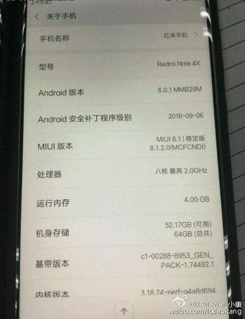 Xiaomi Redmi Note 4X : légère montée en gamme
