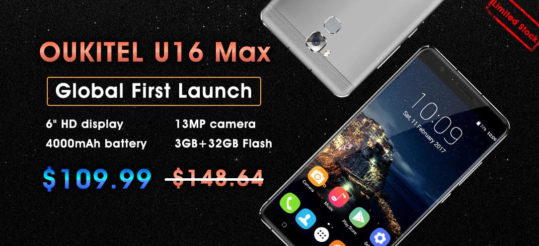 Oukitel U16 Max : premier lancement international