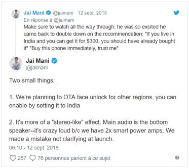 Tweet Jai Mani
