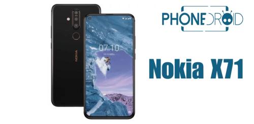 Nokia X71 : la mode de l'écran perforé?