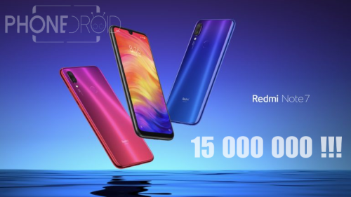 Redmi Note 7 : 15 000 000 d'unités vendues !!