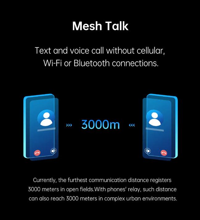Oppo Mesh Talk : le «Talkie Walkie» nouvel génération