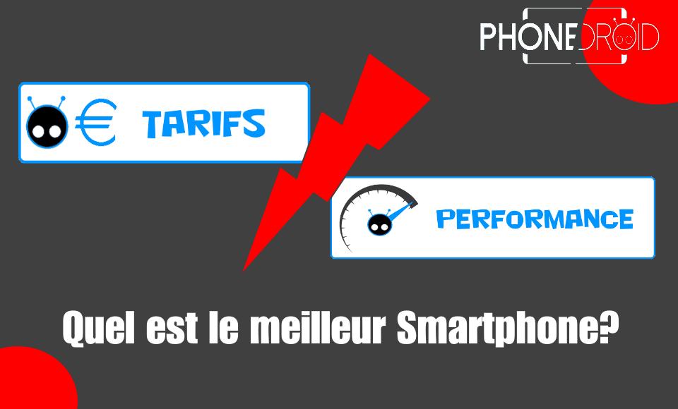 Rapport  Prix / performances : Quel est le meilleur smartphone haut de gamme?