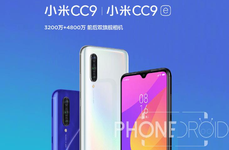 Xiaomi Mi CC9 / Mi CC9e : la nouvelle gamme aux tarifs agressifs