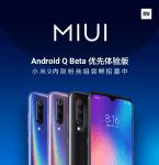 Déploiement de la bêta test d'Android Q sur les smartphones Xiaomi