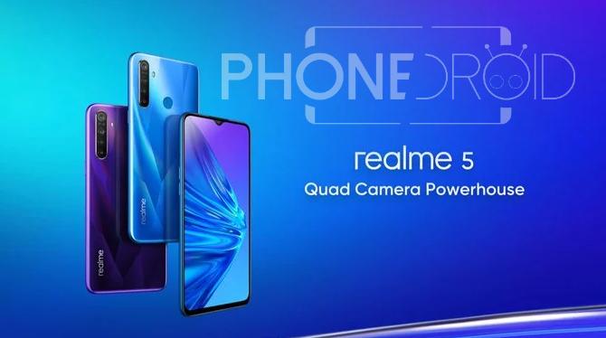 Realme 5 / Realme 5 Pro : une remise à niveau
