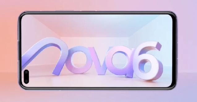 Huawei Nova 6 : écran perforé, Kirin 990.