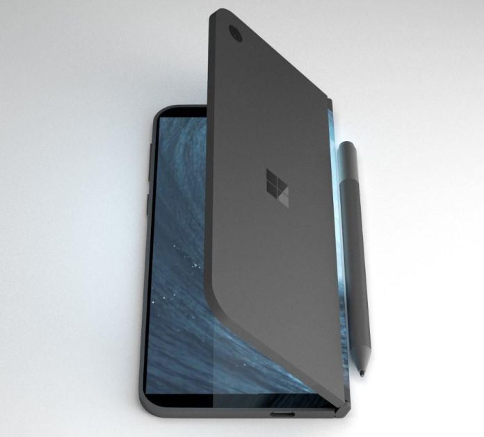 A render of a possible Microsoft Surface Phone from designer David Breyer.DAVID BREYER